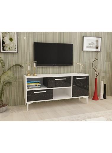 Cantek Dream Tv Sehpası Beyaz-Ceviz Renkli